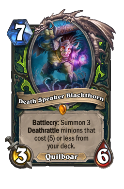 Death Speaker Blackthorn