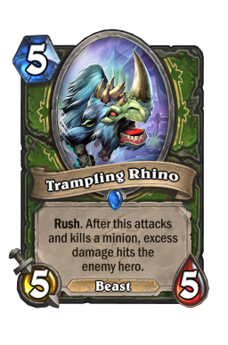 Trampling Rhino